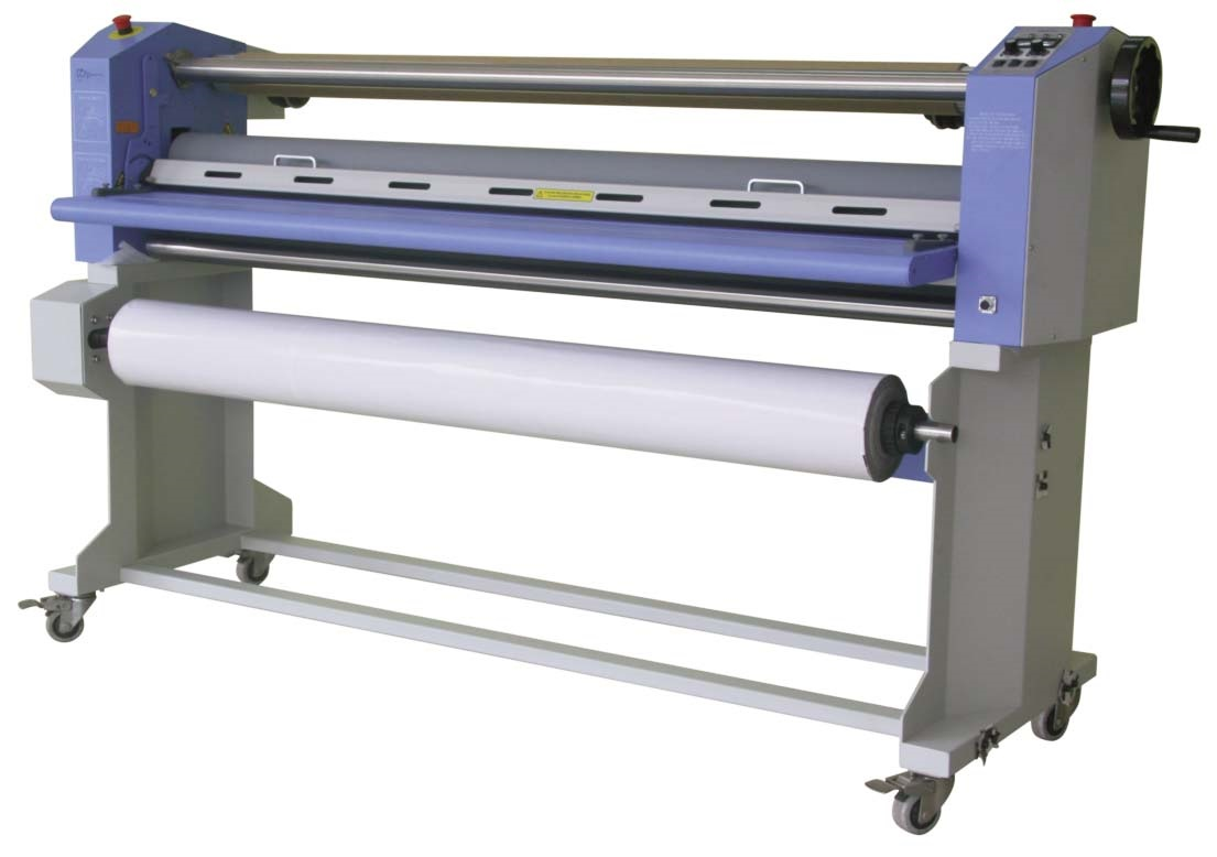 "563TH-2 63"" Top Heat Laminator w/ Swing Shafts & Stand"