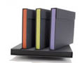"Accent Portfolios - Lilac Blue Tray, Gray Cover 4.25""x6.25""x2"""