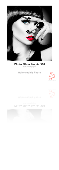 "Photo Gloss Baryta 320gsm 50"" x 49' - Roll"