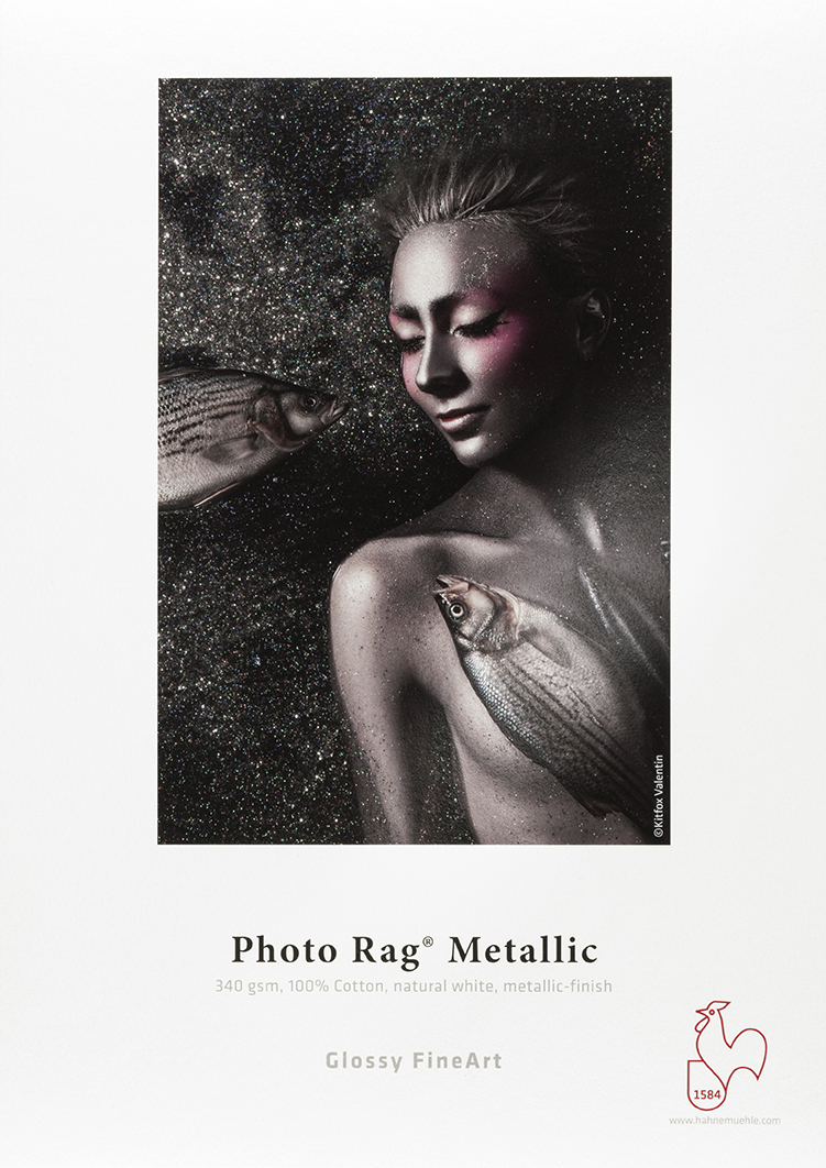 "Photo Rag® Metallic 340gsm 44"" x 39' Roll"