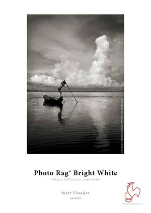 "Photo Rag® Bright White 310gsm, 8.5""x11""- 5 sheets."