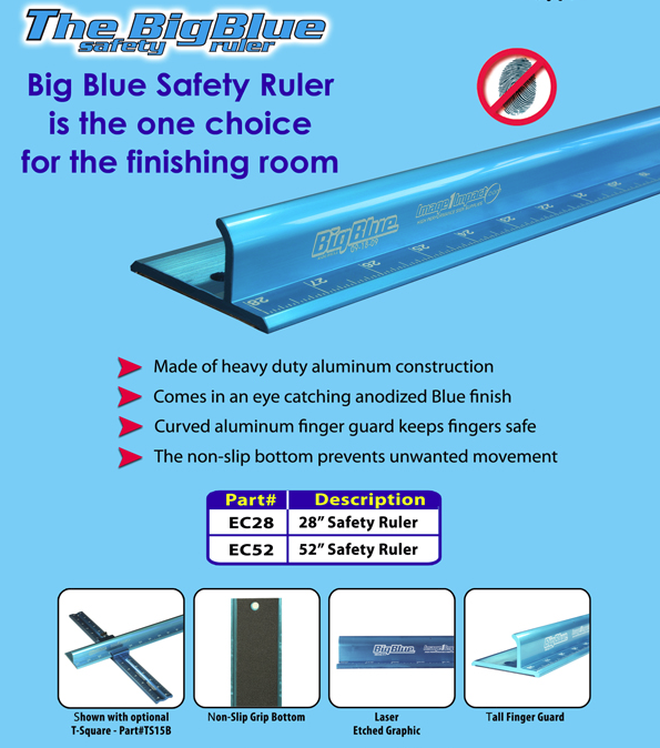 "Big Blue Saftey Ruler- 52"" Version"