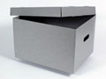"Metal Edge Short Top Boxes (PKG 5) 15.5""x12.75""x10"" - Gray"