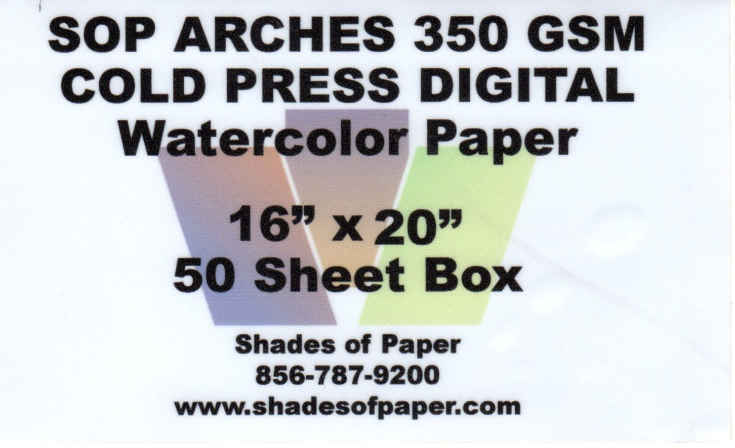 "Arches Cold Press Watercolor Paper 350gsm 16""x20"" - 50 Sheet Box"