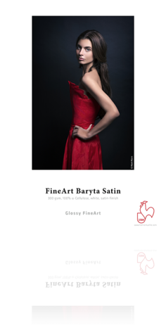 Fine Art Baryta Satin 300gsm 8.5x11 - 25 Sheets