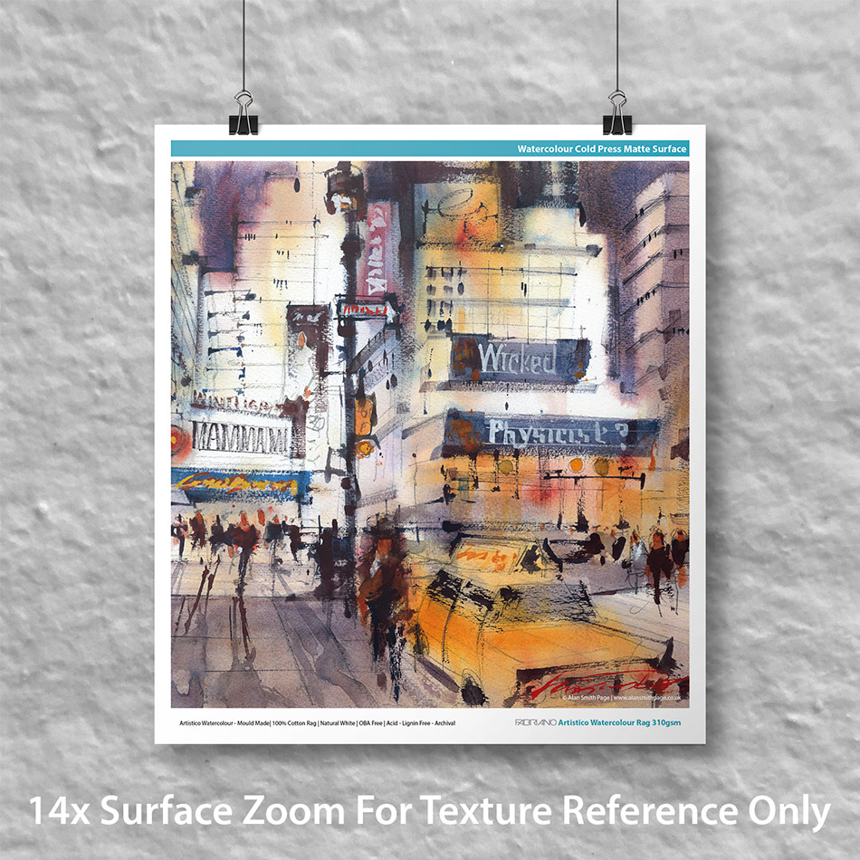 "Fabriano Artistico Watercolour Rag 310 60"" x 50' Roll"