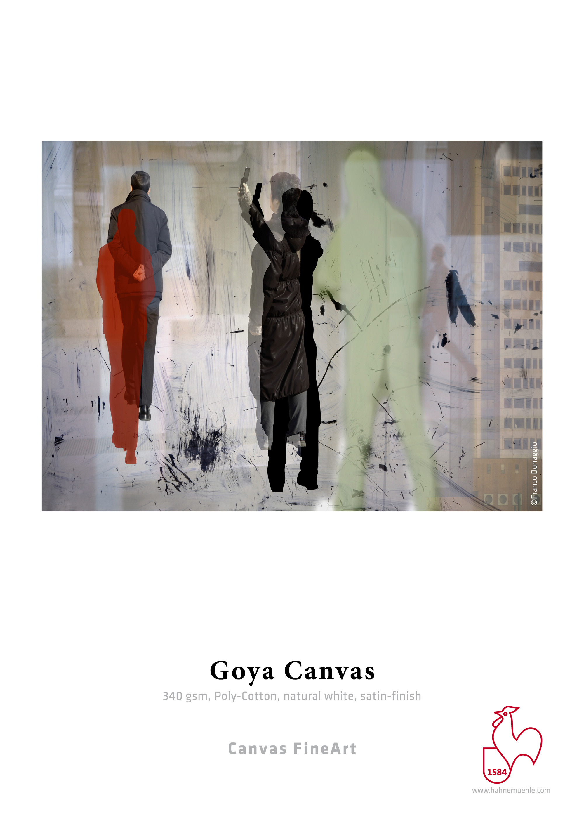 "Goya Satin Canvas 390gsm 44"" x 39' Roll"