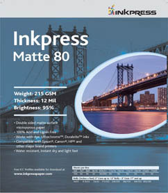 "Inkpress Duo Matte 80, double-sided-4""x6""-50 sheets"