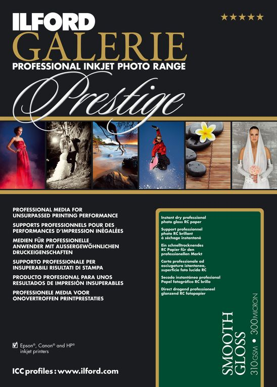 "Prestige Smooth Gloss 310gsm 17"" x 22"" - 25 Sheets"