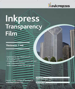 "Inkpress Transparency Film, 8.5"" x 11""-20 sheets"