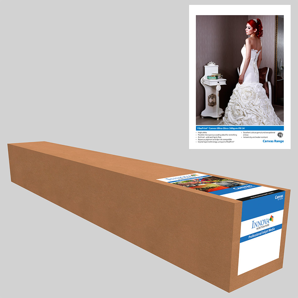 "Photo Canvas Ultra Gloss 380gsm 17"" x 15m Roll"