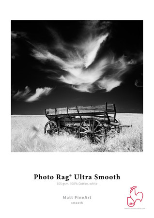 "Photo Rag® Ultra Smooth 305gsm- 44""x39"" roll"